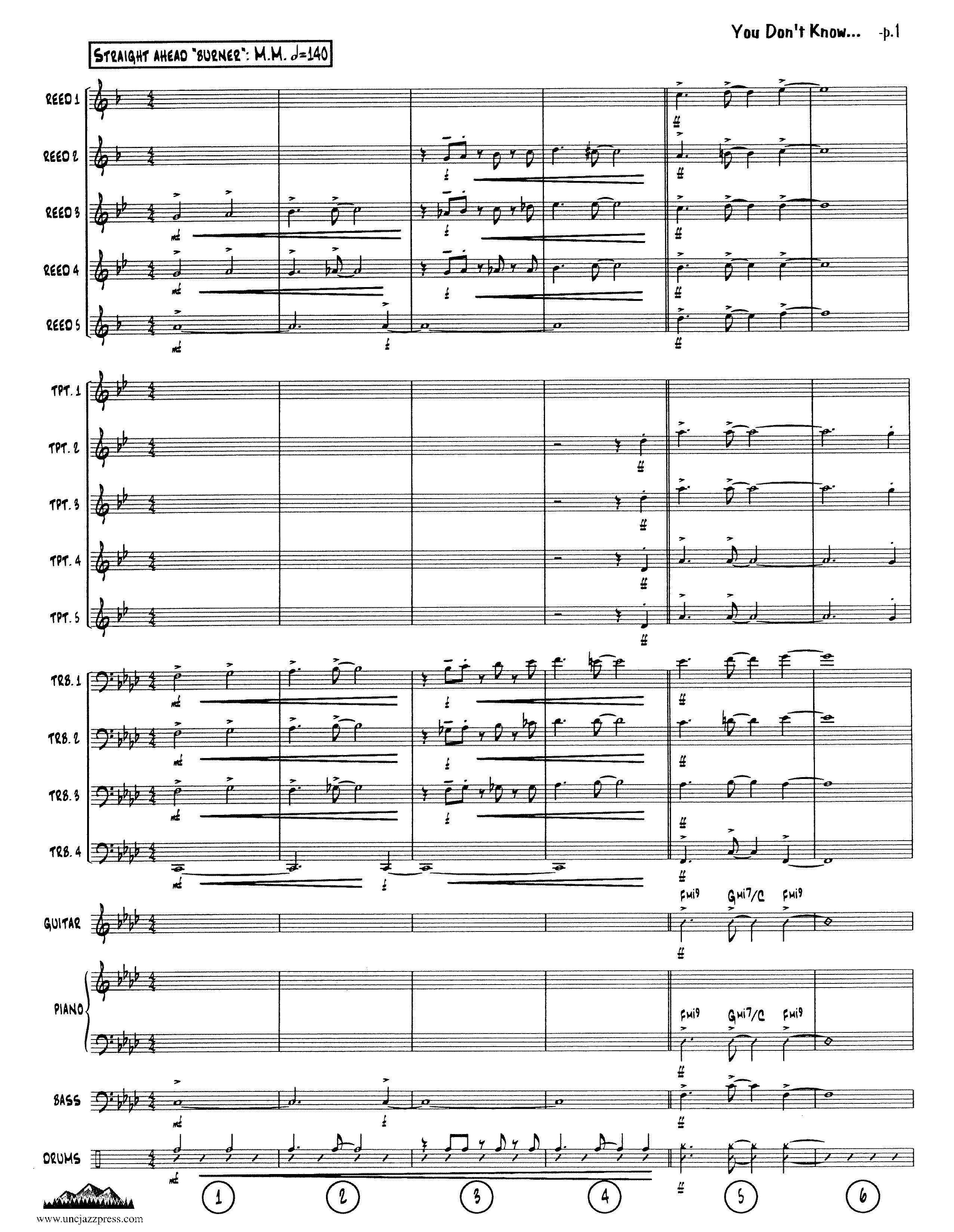 Browse charts by style swing up tempo unc jazz press jazz click here to see a page of this chart hexwebz Choice Image