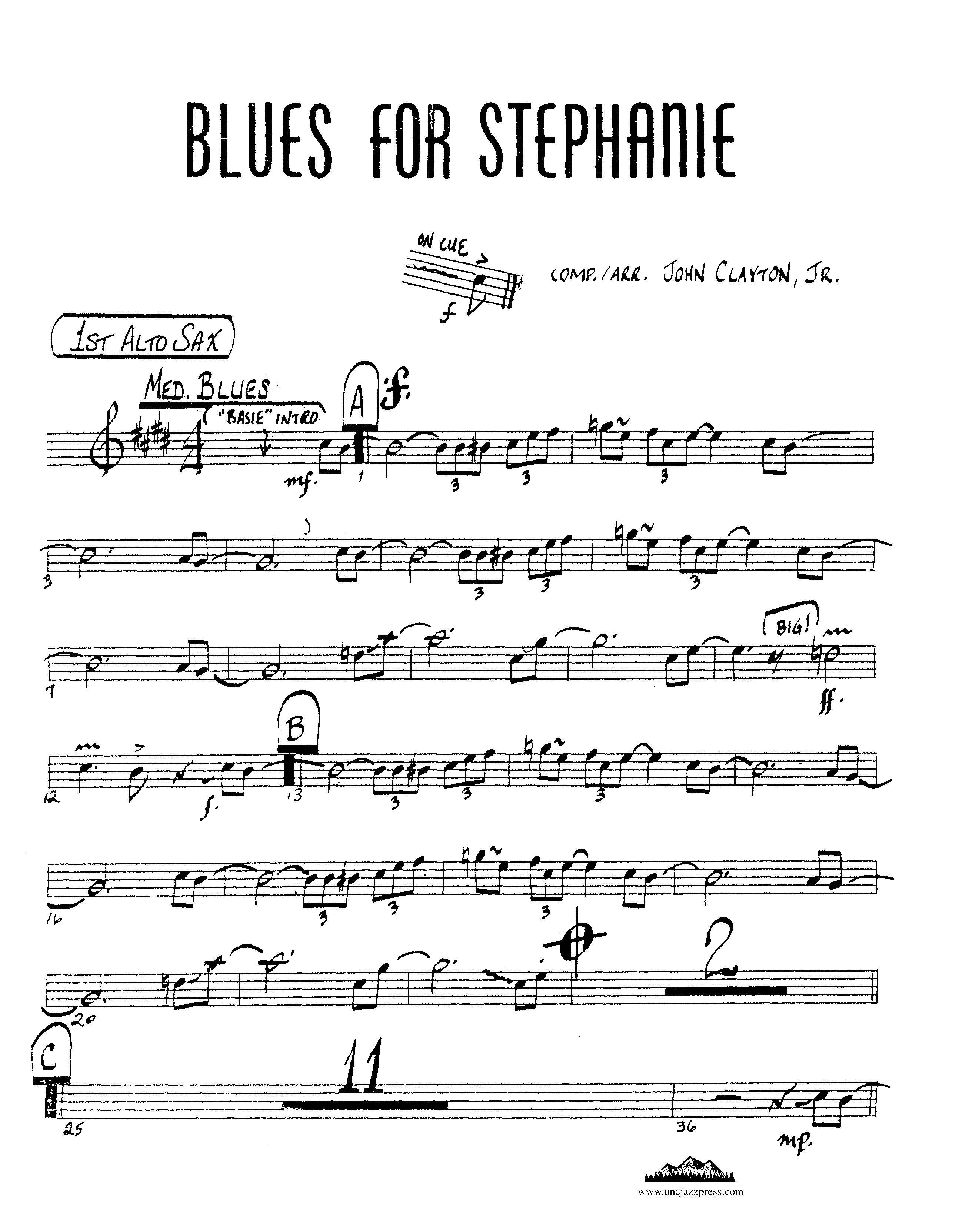 Browse charts by Style: Blues-Medium, UNC Jazz Press, jazz charts