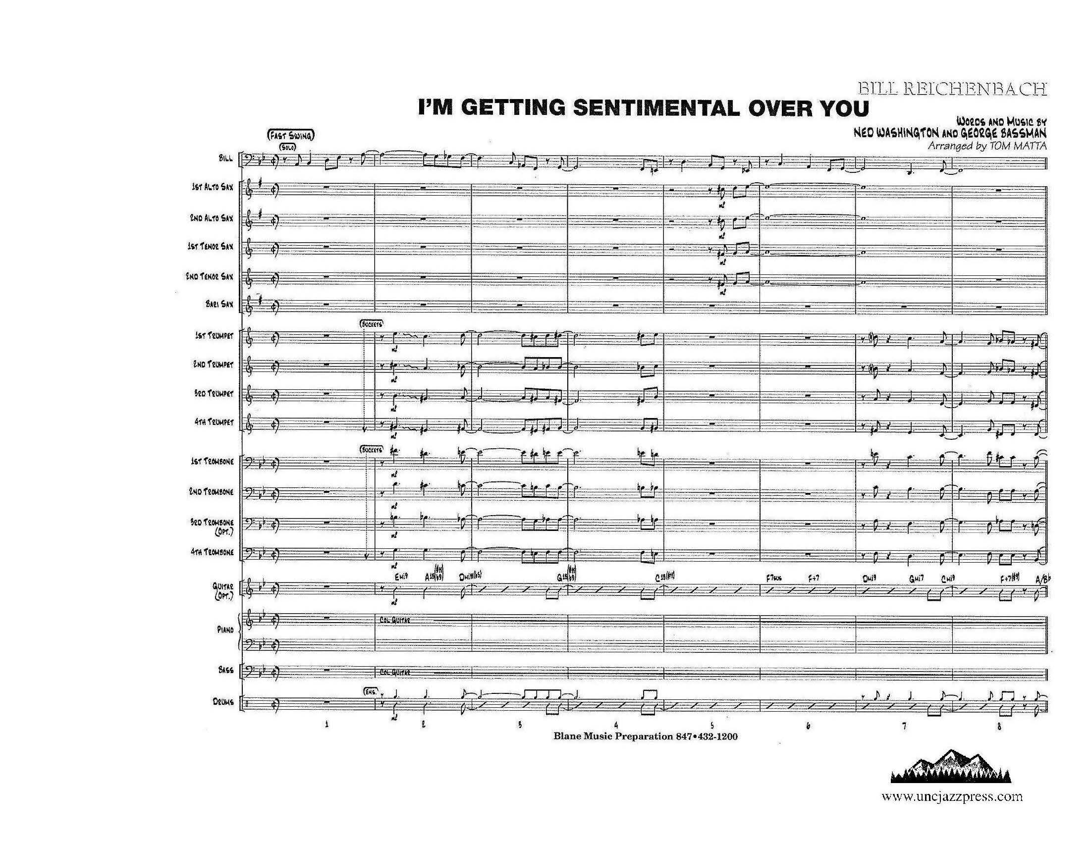 Browse charts by Style: Swing-Up Tempo, UNC Jazz Press, jazz charts